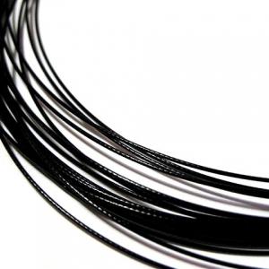 Spang Halsketting Schroefslot 50cm Zwart