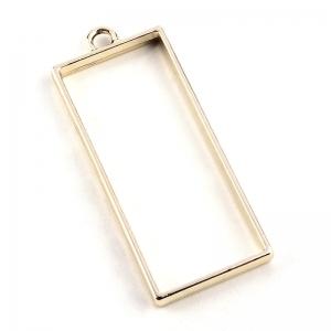 Metalen Open Back Hanger Rechthoek 49x20x3,5mm Goudkleur