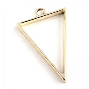 Metalen Open Back Hanger Driehoek 39x25x3,5mm Goudkleur