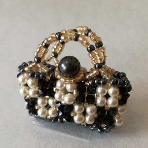 Pakketten Mini Flower Basket Zwart / Wit / Goud