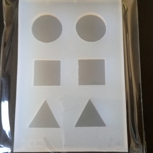 Gietvorm Mini #4 (Rond, Vierkant, Driehoek)